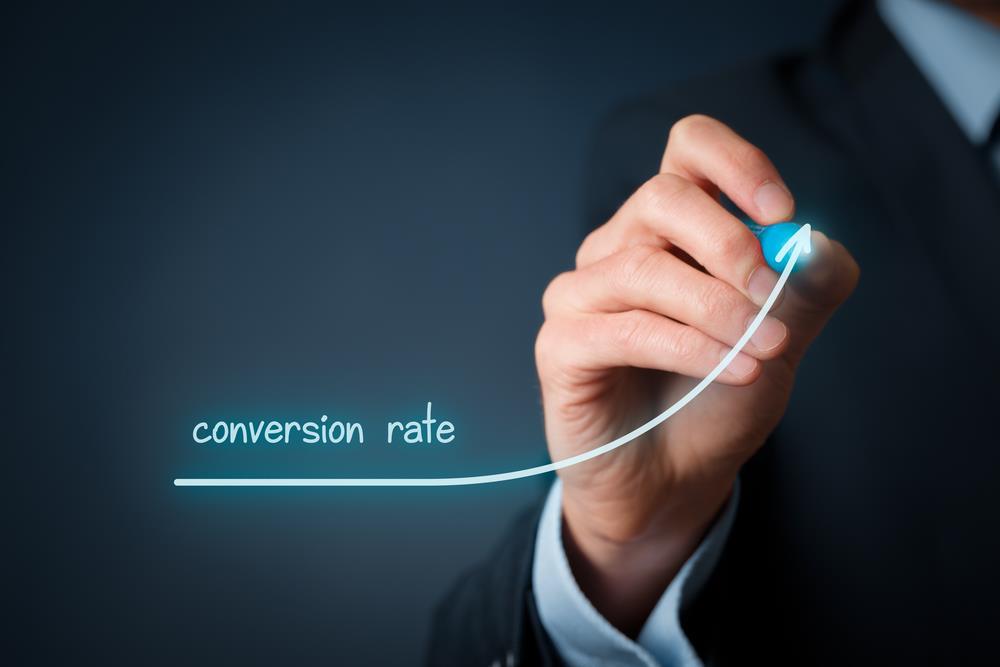 taxa de conversão